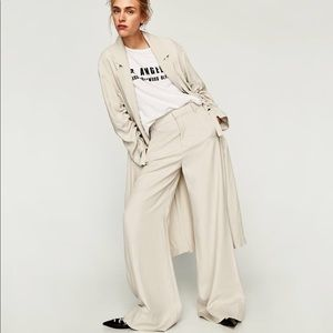 NWT Zara Flowing Loose Fit Palazzo Trousers